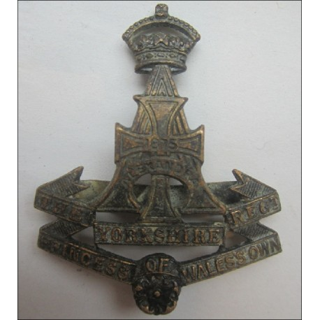 The Princess of Wales Own Yorkshire Regiment Officers Cap Badge