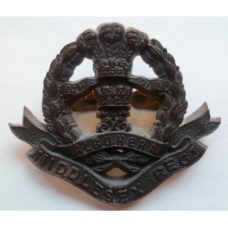 WW2 Middlesex Regiment Plastic Economy Cap Badge