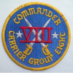 United States Navy Commander Carrier Group Eight Cloth Patch