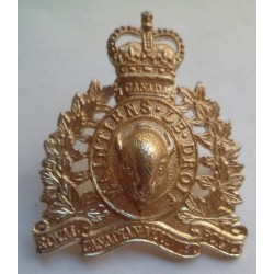 Royal Canadian Mounted Police Staybrite Cap Badge. Anodised Aluminium