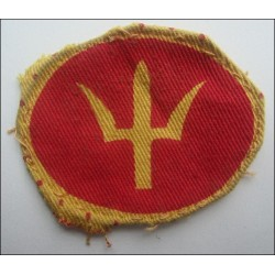 44th Division WW2 printed cloth patch British army