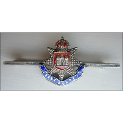 The East Surrey Regiment Sweetheart brooch, Sterling Silver and Enamel