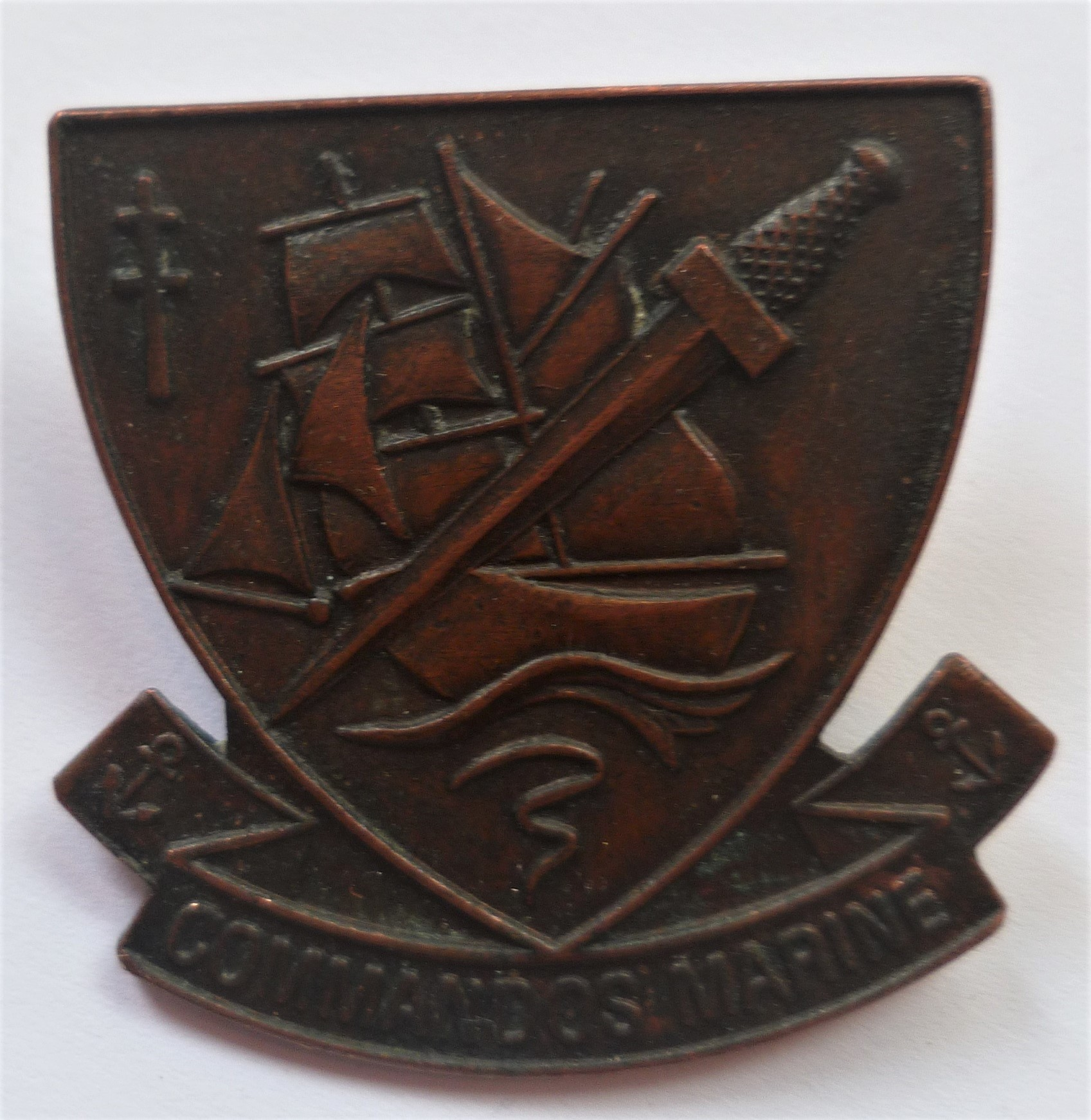 thésaurisation comme une denrée rare vente officielle baskets pour pas cher French Commandos marines Hat Beret Badge An original badge ...