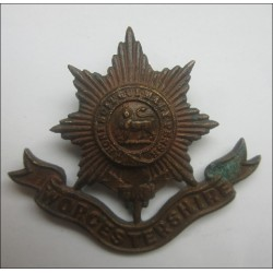 Worcestershire Regiment Bronze Officers cap badge.