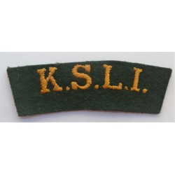 Kings Shropshire Light Infatry Cloth Shoulder Title KSLI British