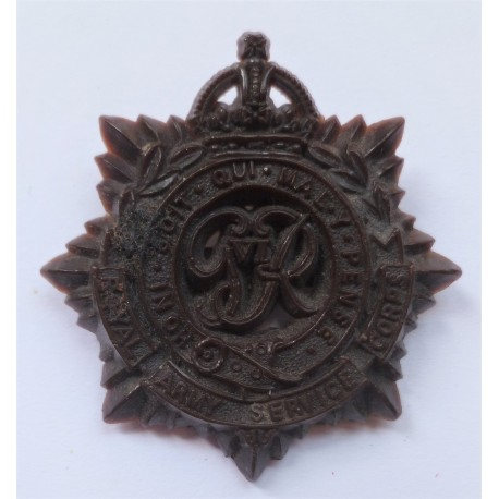 WW2 Royal Army Service Corps Plastic Economy Cap Badge