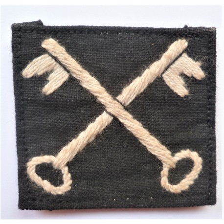 2nd Infantry Division Cloth Formation Sign Indian Made British Army WW2