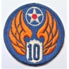 United States Army Air Force 10th Air Force Patch/Badge WW2