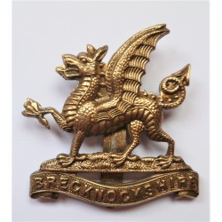 WW1 Brecknockshire Territorial Battalion South Wales Borderers Cap Badge British Army