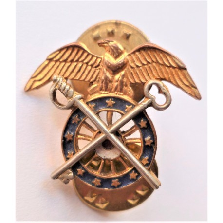 United States Army Officers Quarter Master Corps Collar Device/Badge