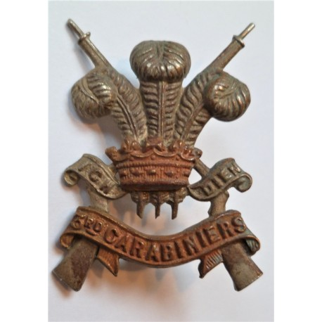 3rd Carabiniers Collar Badge/Dog