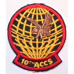 United States Air Force 10th ACCS Airborne Command and Control Squadron Cloth Patch/Badge USAF