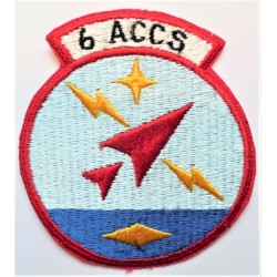 United States 6th ACCS Airborne Command and Control Squadron Cloth Patch Badge