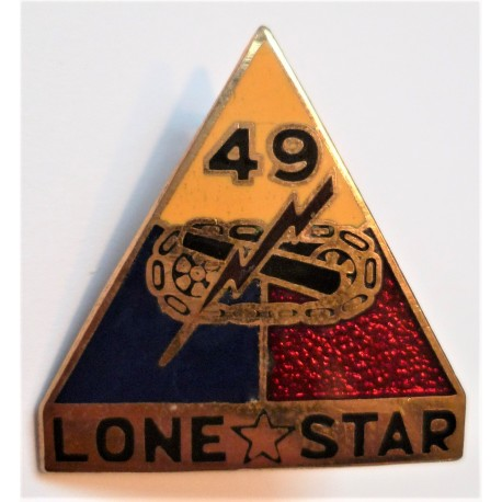 United States Army 49th Armoured Division DI Badge Lone Star