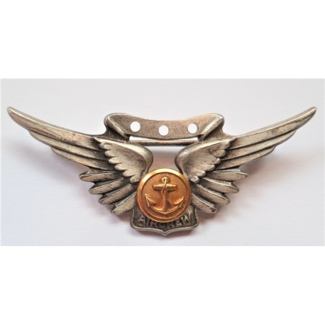 WW2 United States Navy Aircrew Sterling Badge Amico