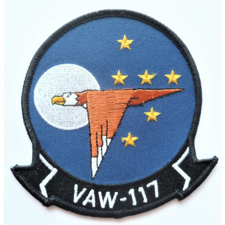US Navy VAW-117 Cloth Patch Insignia Carrier Command and Control