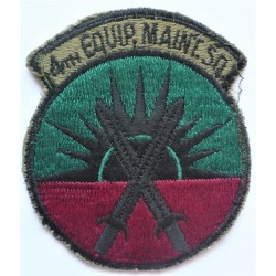 USAF 4th Equipment Maintenance Squadron Army Cloth Badge