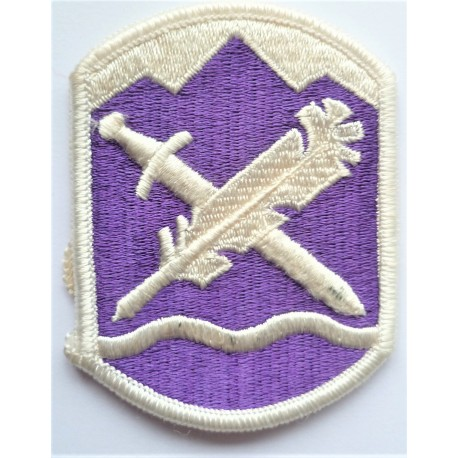 US 365th Civil Affairs Brigade Cloth Patch Badge