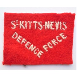 St. Kitts & Nevis Defence Force Cloth Shoulder Patch British Army WW2 badge