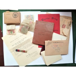 Medals and Paperwork to F A Acred Worcestershire Reg and RASC WWII
