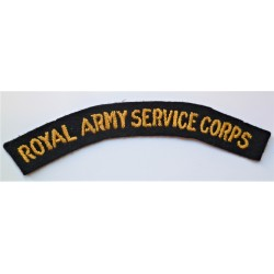 WWII The Royal Army Service Corps RASC Cloth Shoulder Title