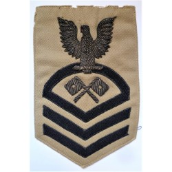 United States Navy Illustrator/Draftsman Bullion Cloth Rating Patch Badge US