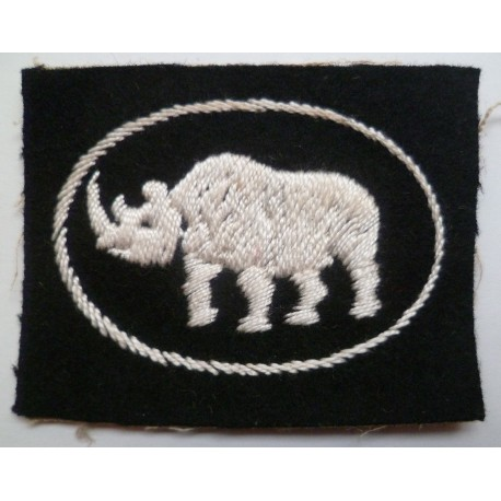WW2 1st Armoured Division Cloth Formation Sign