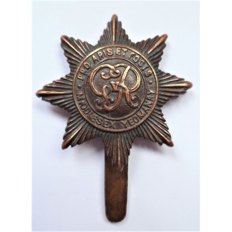 WW1 Middlesex Yeomanry Cap Badge George V