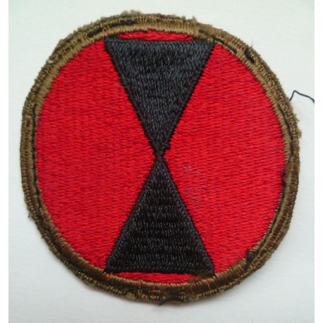 United States WW2 7th Infantry Division Cloth Patch