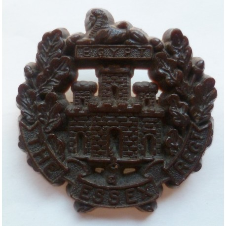 The Essex Regiment WW2 Plastic Economy Cap Badge