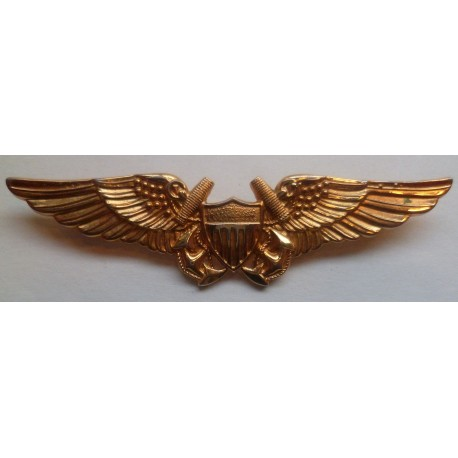 1950s United States Navy Aviator Wing badge. GEMSCO N.Y.