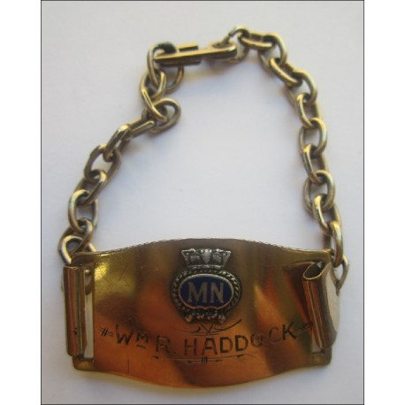 A very nice Identity Bracelet to a Wm R. Haddock. Merchant Navy