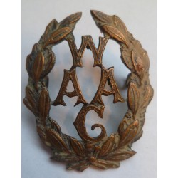 Womens Auxiliary Army Corps Cap Badge W.A.A.G.