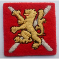 West Scotland District Cloth Formation Sign Badge