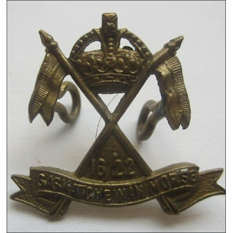 6/22 Saskatchewan Horse Canadian Collar Badge