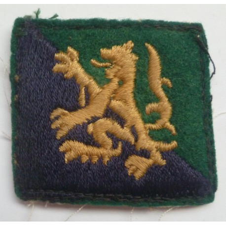 Highland District Scottish Command Cloth Formation Sign British Army