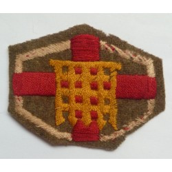 Home Counties Brigade Embroidered Cloth Formation Sign British Army