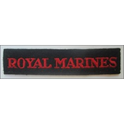 Early Royal Marines Straight Shoulder Title