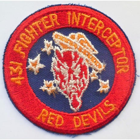 USAF 431 Fighter Interceptor Squadron Cloth Patch Badge United States Air Force