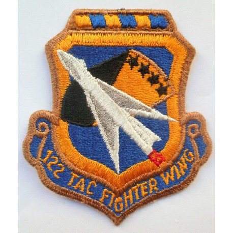 USAF 122nd Tactical Fighter Wing Cloth Patch Badge United States Air Force